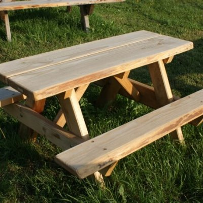 Kinder picknicktafel