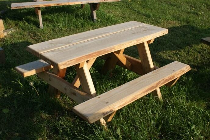 Kinder picknicktafel
