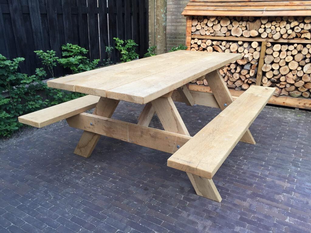 Picknick Tafel Stevig.Stevige Picknicktafel Kopen Zware Kwaliteit Handgemaakt