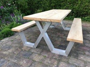 Picknicktafel met aluminium frame