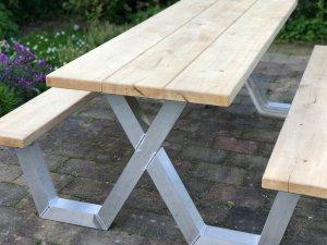 Picknicktafel aluminium frame